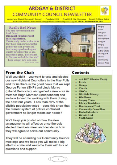 Download 2012 Summer Newsletter
